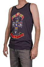 Load image into Gallery viewer, Men's Guns N Roses Appetite for Destruction Tank Top Side View Man Wearing Tank and Jeans