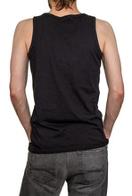 Load image into Gallery viewer, Men's Guns N Roses Bullet Logo Tank Top Back View Solid Black Tank Top