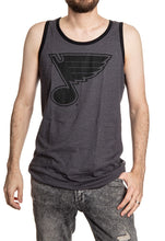 Load image into Gallery viewer, St. Louis Blues Large Logo Tank Top Front View.