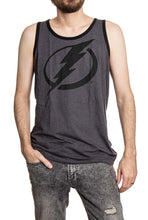 Load image into Gallery viewer, Tampa Bay Lightning Large Logo Tank Front View.