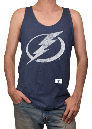 Mens NHL Team Logo Tank Top- Tampa Bay Lightning