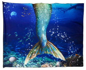Realistic Mermaid Tail Blanket