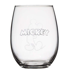 Disney Collectible Wine Glass Set- Mickey and Minnie