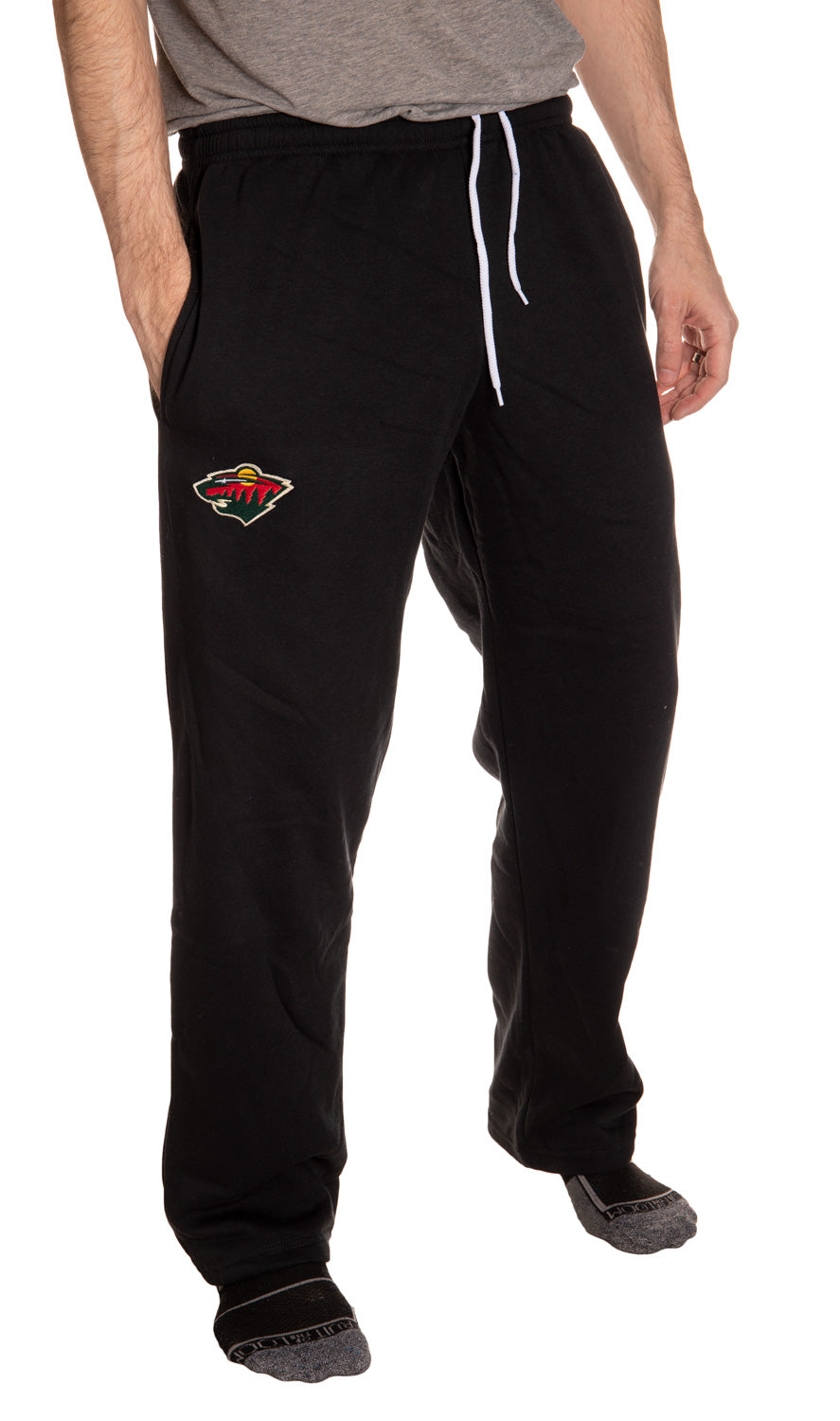 Minnesota Wild Embroidered Logo Sweatpants Front View