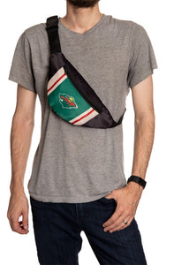 NHL Unisex Adjustable Fanny Pack- Minnesota Wild Crossbody