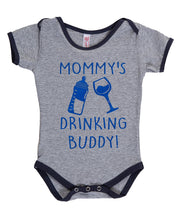 "Load image into Gallery viewer, Baby Diaper Suit- ""Mommy's Drinking Buddy"""