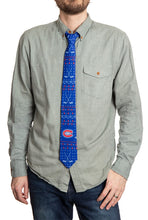 Load image into Gallery viewer, Montreal Canadiens Ugly Christmas Tie Modeled.
