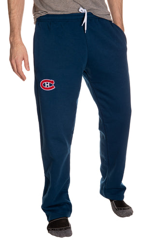 Montreal Canadiens Embroidered Logo Sweatpants Front View