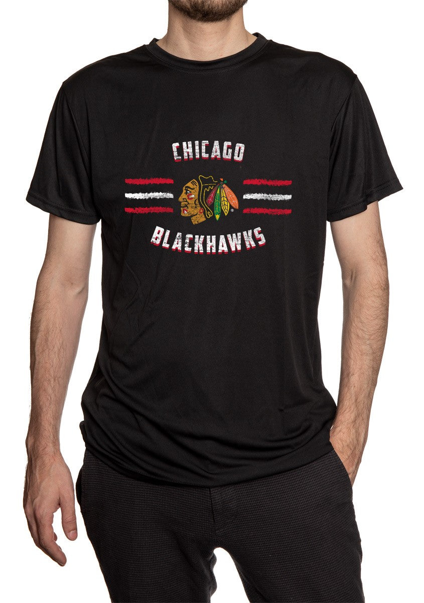 Chicago Blackhawks Short Sleeve Performance Rashguard – Distressed Lines