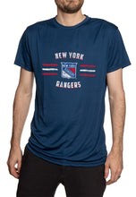 Load image into Gallery viewer, New York Rangers Short Sleeve Performance Rashguard – Distressed Lines