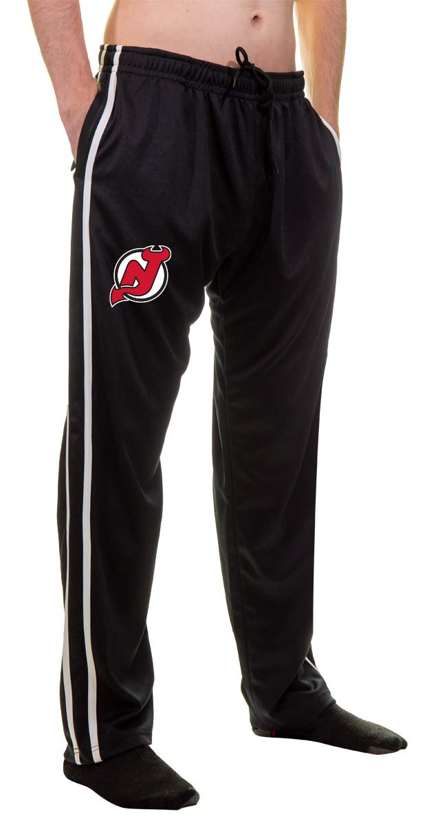 NHL Men's Striped Training Pant- New Jersey Devils