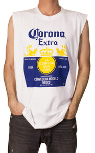 Mens Muscle Tank-Corona Bottle Label