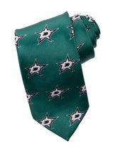 Load image into Gallery viewer, NHL Men's All Over Team Logo Neck Tie- Dallas Stars