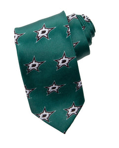 NHL Men's All Over Team Logo Neck Tie- Dallas Stars