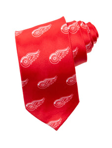 NHL Men's All Over Team Logo Neck Tie- Detroit Red Wings