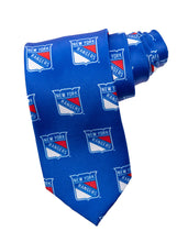 Load image into Gallery viewer, NHL Men's All Over Team Logo Neck Tie- New York Rangers
