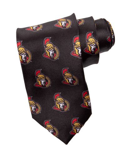 NHL Men's All Over Team Logo Neck Tie- Ottawa Senators