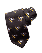 Load image into Gallery viewer, Pittsburgh Penguins All Over Team Logo Necktie