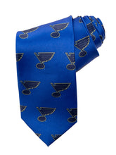 Load image into Gallery viewer, NHL Men's All Over Team Logo Neck Tie- St.Louis Blues