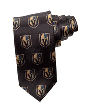 Load image into Gallery viewer, NHL Men's All Over Team Logo Neck Tie- Vegas Golden Knights