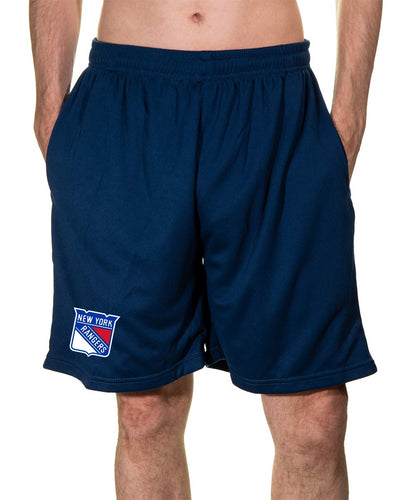 NHL Mens Air Mesh Shorts- New York Rangers