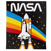 Load image into Gallery viewer, NASA Rocket Rainbow Blanket- Rainbow