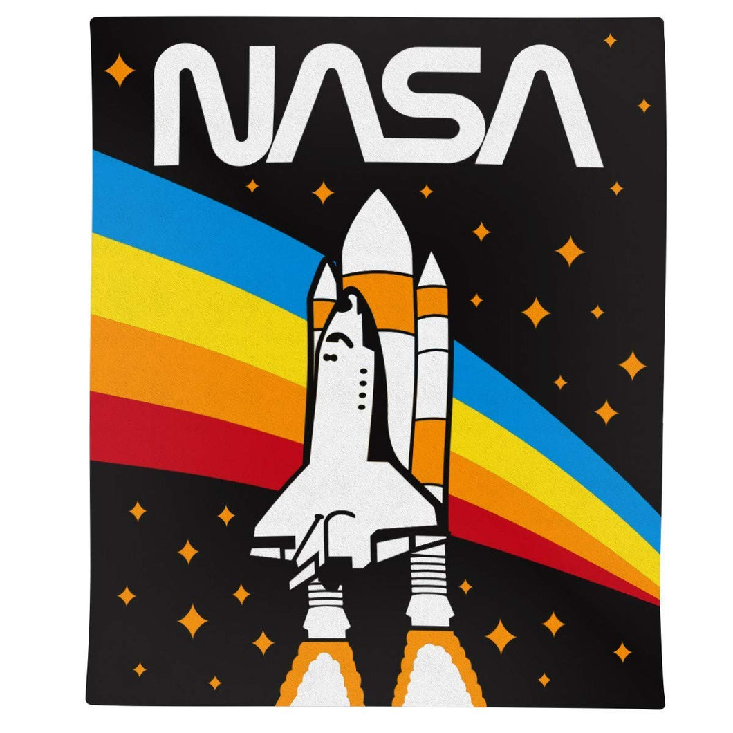 NASA Rocket Rainbow Blanket- Rainbow