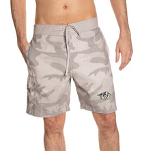 Load image into Gallery viewer, Nashville Predators Tan Camo Boardshorts Front View