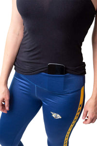 NHL Women's Athletic Capri Workout Leggings- Nashville Predators Cellphone Holder