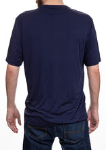 Load image into Gallery viewer, Nashville Predators Short Sleeve Shirt in Blue, Back View.