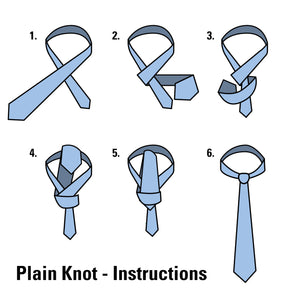 How To Tie A Plain Knot Tie Instructions