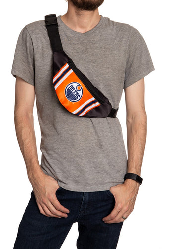 NHL Unisex Adjustable Fanny Pack- Edmonton Oilers Crossbody