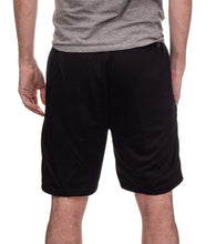 Load image into Gallery viewer, Arizona Coyotes Air Mesh Shorts In Black, Back View.