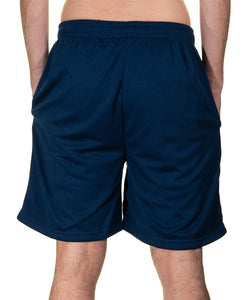 Tampa Bay Lightning Air Mesh Shorts in Blue, Back View.
