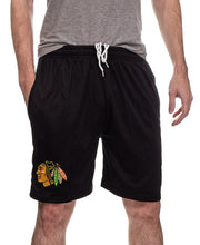 Load image into Gallery viewer, NHL Mens Air Mesh Shorts- Chicago Blackhawks Team Front