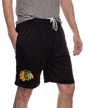 Load image into Gallery viewer, NHL Mens Air Mesh Shorts- Chicago Blackhawks Team Right Side