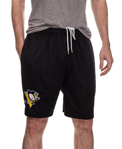 NHL Mens Team Air Mesh Shorts-Pittsburgh Penguins