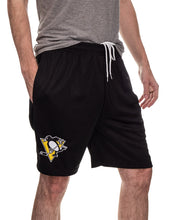 Load image into Gallery viewer, NHL Mens Team Air Mesh Shorts-Pittsburgh Penguins Side Pocket