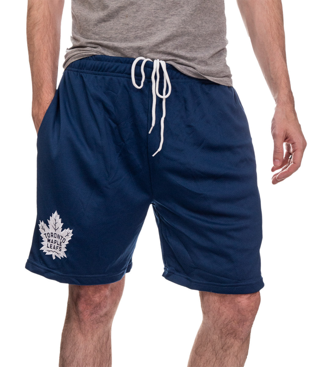 NHL Mens Air Mesh Shorts-Toronto Maple Leafs Front