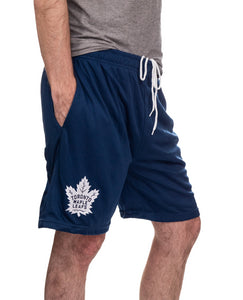 NHL Mens Air Mesh Shorts-Toronto Maple Leafs Right Side