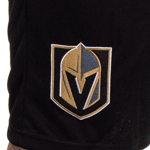 NHL Mens Team Air Mesh Shorts-Vegas Golden Knights Logo