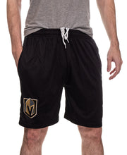 Load image into Gallery viewer, NHL Mens Team Air Mesh Shorts-Vegas Golden Knights Front