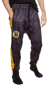 Boston Bruins Tie Dye Jogger Pants for Men Front View.