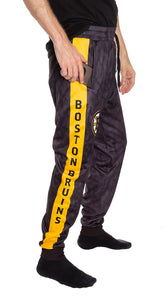 Boston Bruins Tie Dye Jogger Pants for Men Side View.