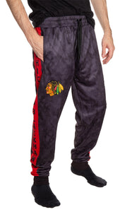 Chicago Blackhawks Tie Dye Jogger Pants for Men Front View.