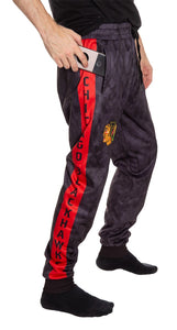 Chicago Blackhawks Tie Dye Jogger Pants for Men Side View.