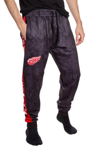 Detroit Red Wings Tie Dye Jogger Pants for Men Front View.
