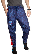 Load image into Gallery viewer, New York Rangers Tie Dye Jogger Pants for Men Front View.