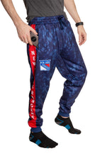 Load image into Gallery viewer, New York Rangers Tie Dye Jogger Pants for Men Side VIew.