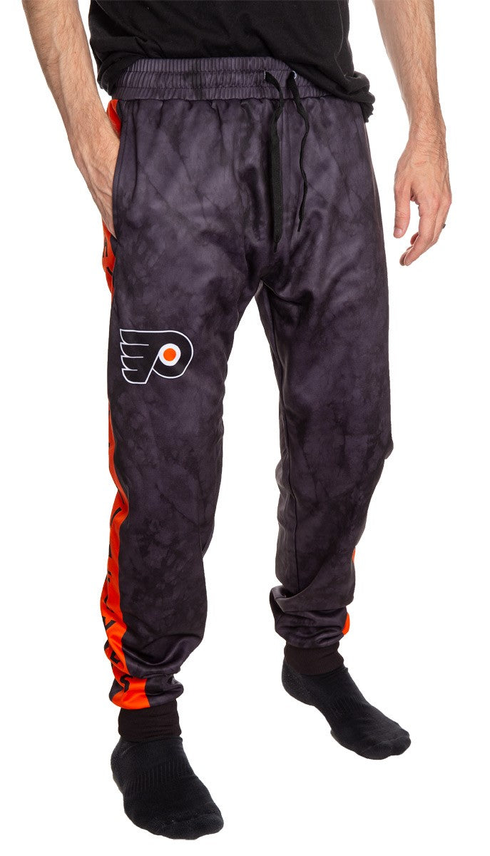 Philadelphia Flyers Tie Dye Jogger Pants for Men Front View.